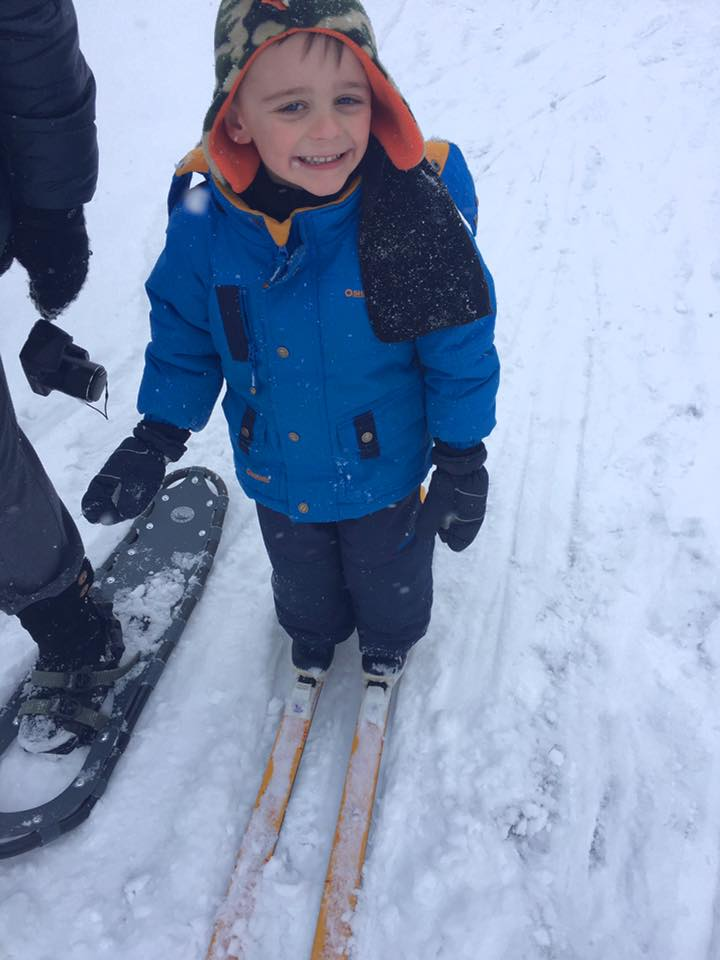 Oaklyn's First Ski!