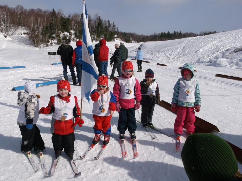 Bunny race skiers 3/14