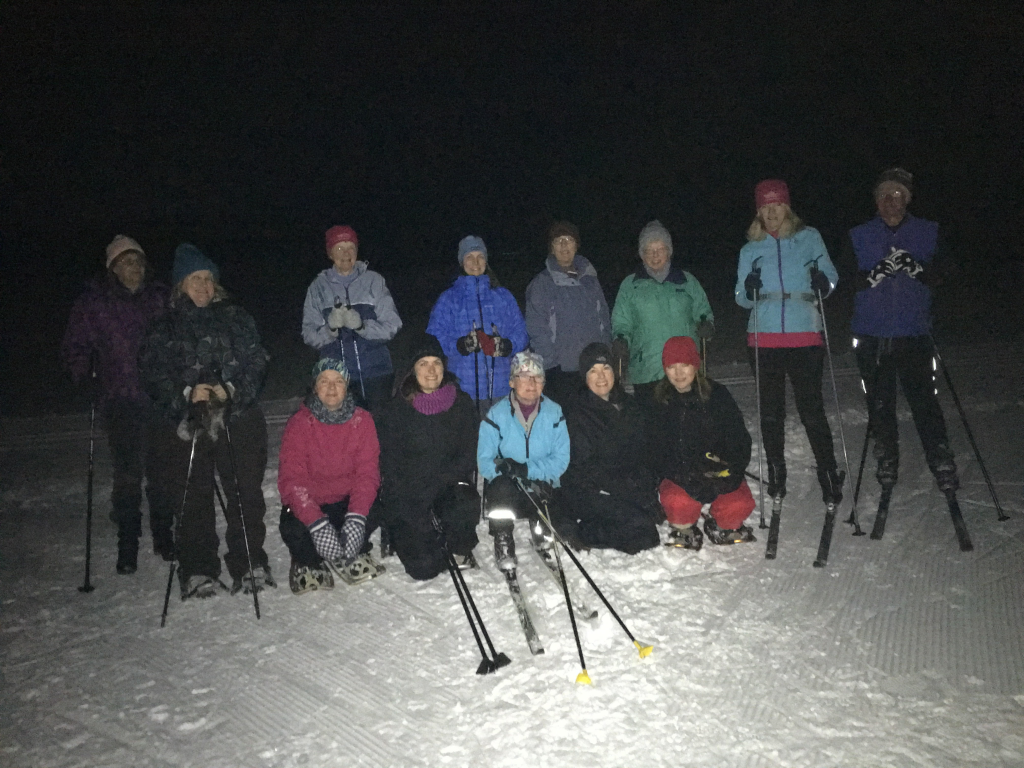 In the trails! Moonlight Adventure Group! February 11th, 2017